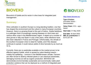 BIOVEXO Project Sheet Summary